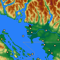 Nearby Forecast Locations - Vancouver Hrbour - Χάρτης