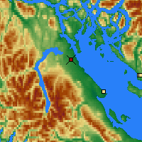 Nearby Forecast Locations - Campbell River - Χάρτης