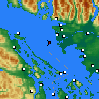 Nearby Forecast Locations - Sands Head - Χάρτης