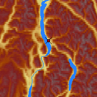 Nearby Forecast Locations - Nakusp - Χάρτης