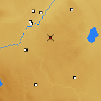 Nearby Forecast Locations - Cypress River - Χάρτης