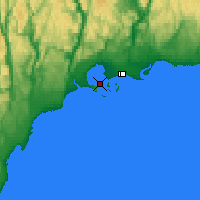 Nearby Forecast Locations - Pointe Noire - Χάρτης