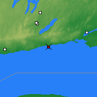 Nearby Forecast Locations - Cobourg - Χάρτης