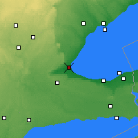 Nearby Forecast Locations - Burlington - Χάρτης