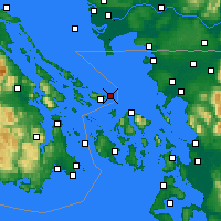 Nearby Forecast Locations - Saturna Island - Χάρτης