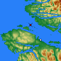 Nearby Forecast Locations - Herbert Isl. - Χάρτης