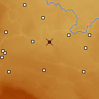 Nearby Forecast Locations - Fincastle Agdm - Χάρτης