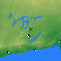 Nearby Forecast Locations - Peterborough Trent - Χάρτης