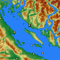 Nearby Forecast Locations - Powell River - Χάρτης