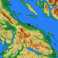 Nearby Forecast Locations - Qualicum Airport - Χάρτης