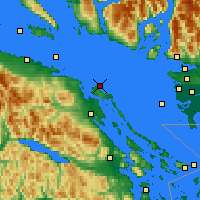 Nearby Forecast Locations - Entrance Isl. - Χάρτης