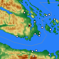 Nearby Forecast Locations - Malahat - Χάρτης