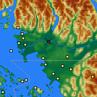 Nearby Forecast Locations - Pitt Meadows - Χάρτης
