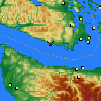 Nearby Forecast Locations - Shirley - Χάρτης