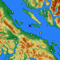 Nearby Forecast Locations - Sisters Isl. - Χάρτης
