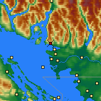 Nearby Forecast Locations - W Vancouver - Χάρτης