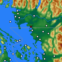 Nearby Forecast Locations - White Rock - Χάρτης