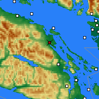 Nearby Forecast Locations - Baie-Comeau - Χάρτης