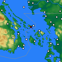 Nearby Forecast Locations - Saturna/capmon Cs - Χάρτης