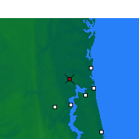 Nearby Forecast Locations - Jacksonville International Airport - Χάρτης