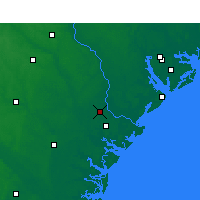 Nearby Forecast Locations - Savannah - Χάρτης