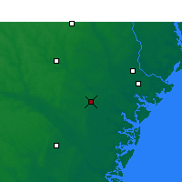 Nearby Forecast Locations - Hinesville - Χάρτης