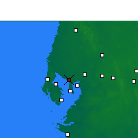 Nearby Forecast Locations - Τάμπα - Χάρτης