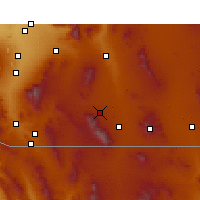 Nearby Forecast Locations - Fort Huachuca - Χάρτης