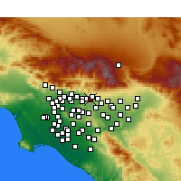 Nearby Forecast Locations - La Verne - Χάρτης