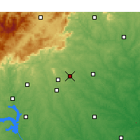 Nearby Forecast Locations - Greer - Χάρτης