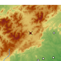 Nearby Forecast Locations - Asheville - Χάρτης