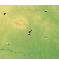 Nearby Forecast Locations - Fort Sill - Χάρτης