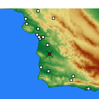 Nearby Forecast Locations - Santa Maria - Χάρτης