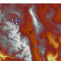 Nearby Forecast Locations - Bishop - Χάρτης