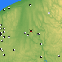 Nearby Forecast Locations - Youngstown - Χάρτης