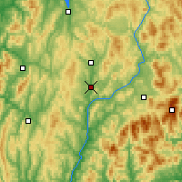 Nearby Forecast Locations - S. Johnsbury - Χάρτης