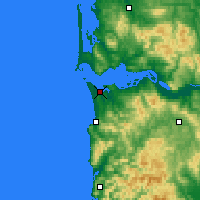 Nearby Forecast Locations - Astoria - Χάρτης