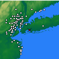 Nearby Forecast Locations - New York (JFK) - Χάρτης