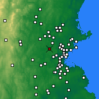 Nearby Forecast Locations - Bedford - Χάρτης