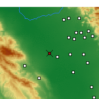 Nearby Forecast Locations - Lemoore - Χάρτης