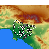 Nearby Forecast Locations - El Monte - Χάρτης