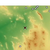 Nearby Forecast Locations - Gila Bend - Χάρτης
