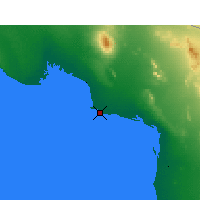 Nearby Forecast Locations - Puerto Peñasco - Χάρτης