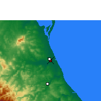 Nearby Forecast Locations - Tuxpan - Χάρτης