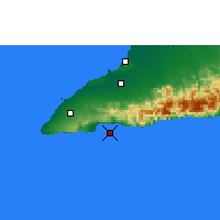 Nearby Forecast Locations - Cape Cruz - Χάρτης