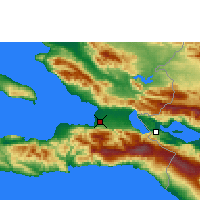 Nearby Forecast Locations - Πορτ-ο-Πρενς - Χάρτης