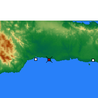 Nearby Forecast Locations - Caucedo - Χάρτης