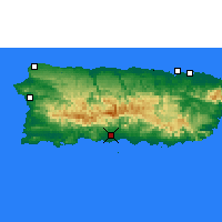Nearby Forecast Locations - Ponce - Χάρτης