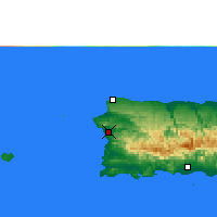 Nearby Forecast Locations - Mayagüez - Χάρτης