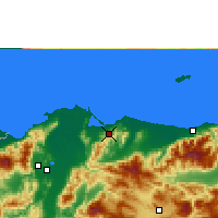 Nearby Forecast Locations - Tela - Χάρτης
